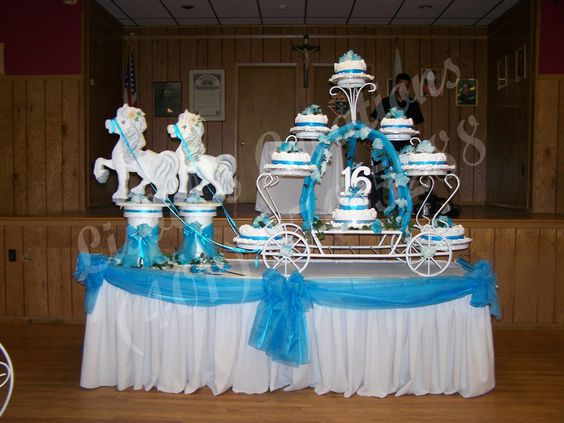 Quincea era torta de carro and caballos on pinterest for Adornos para quinceanera