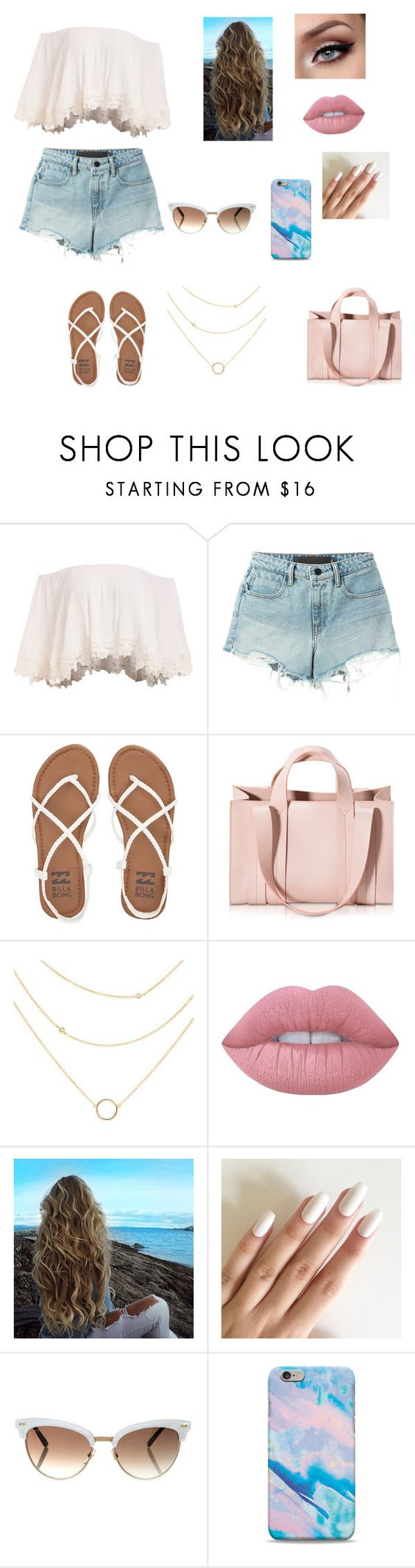 """""""Untitled #155"""" by lilsurfer ❤ liked on Polyvore featuring T By Alexander Wang, Billabong, Corto Moltedo and Lime Crime"""