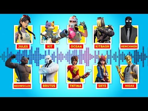All Boss And Character Voicelines In Fortnite Season 2 And 3 Youtube Fortnite Character Season 2