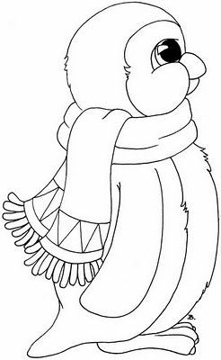 Penguin Coloring Pages Momjunction