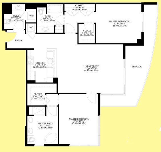 Luxury Condo Floor Plans Plaza On Brickell Tower Ii
