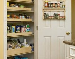 love the pantry slide out shelves