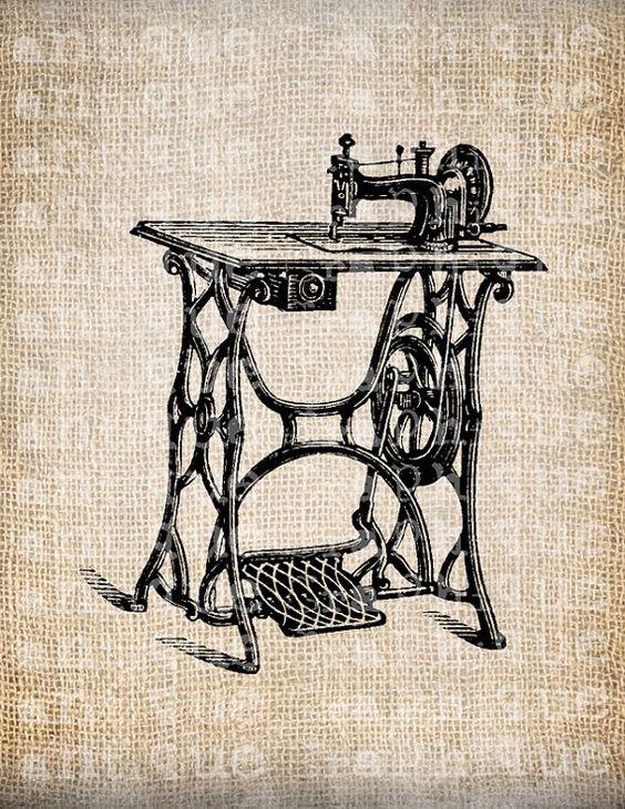 Antique pédale Machine à coudre couture par AntiqueGraphique