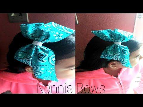 Lazo Con Pañuelo Tela Paliacate Bandana Fabric Bow Nennis Bows Youtube Moños Como Hacer Moños Lazos
