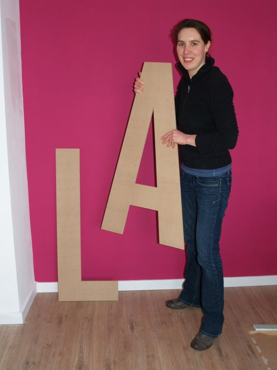 Grote letters MDF
