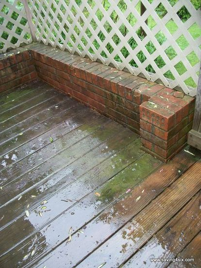 how to clean a deck, cleaning tips, decks, outdoor living, The mildew and dirt had really taken over causing an ugly and somewhat dangerous surface
