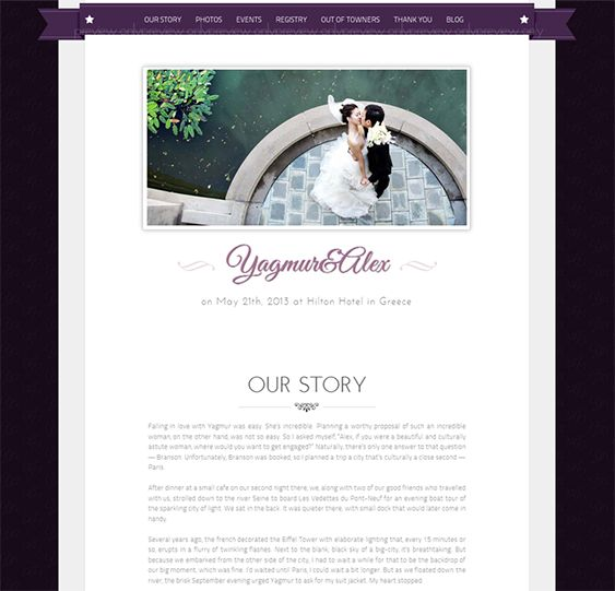 This Simple Wedding Website Template Boasts Twitter Integration A Contact Rsvp Function Support