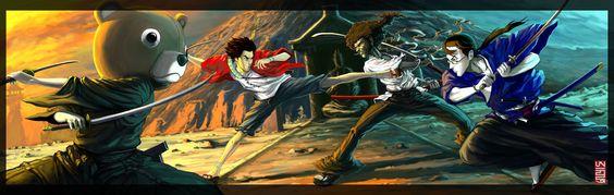Afro Samurai Champloo by BurenErdene.deviantart.com on @DeviantArt