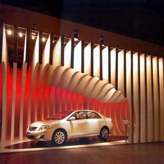 Booth design toyota and design on pinterest for Design de stand