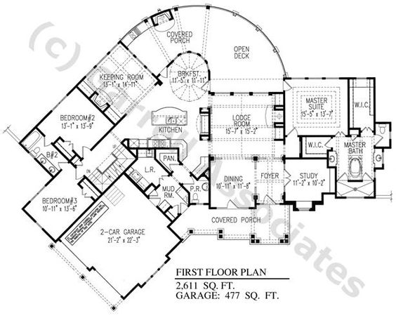 Gable Front House Floor Plan House Plans