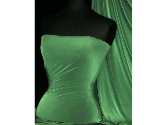 Khaki Silk Touch 4 Way Stretch Jersey Lycra Fabric