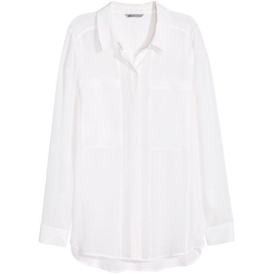 H&M Blouse found on Polyvore featuring tops, blouses, shirts ...
