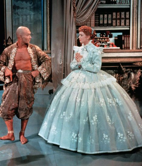 Yul Brynner and Deborah Kerr starred on Broadway and in the film version of the Rodgers and Hammerstein musical The King and I