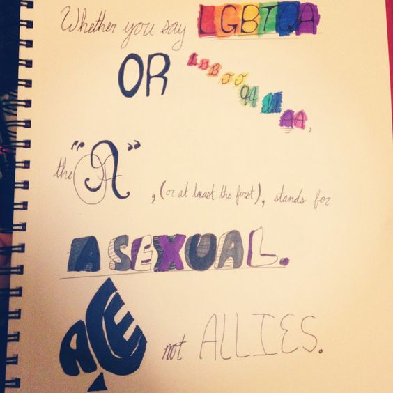 I made this a while ago because people often forget that Asexuality is a thing that exists and to be brutally honest, I think it's more important than allies. I apologize for my opinion. Yes, allies are helpful and it's great that you accept us who are not heterosexuals, but you don't need a gold medal for being a decent human being.