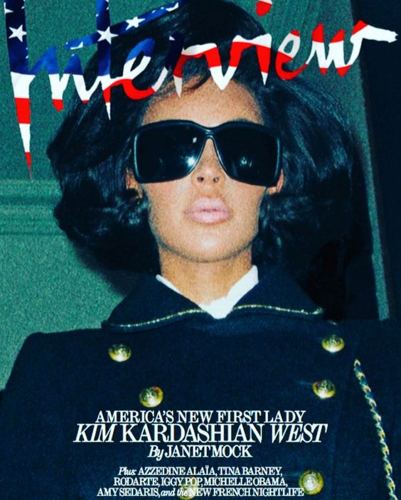 INTERVIEW MAGAZINE 2017 SEPTEMBER ISSUE Kim Kardashian as Jackie O 💯 Photo By Steven Klein  Styling By Patti Wilson Creative Driector Fabien Baron