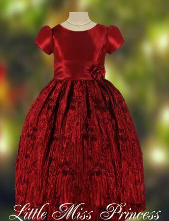 girls christmas dresses  Exquisite Rich Wine Christmas Dress ...