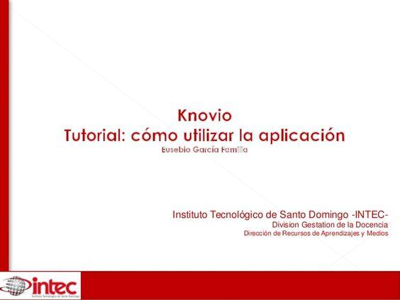 Knovio tutorial como utilizar la aplicación