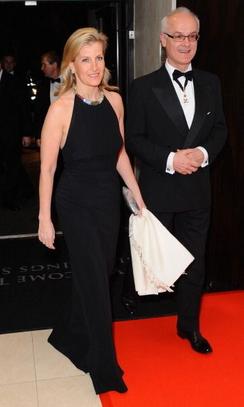 Prince Edward's wife showed off her figure in this tight black gown for a charity event in March 2014.