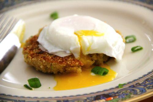 Quinoa Patties w. Poached Eggs | Vegitarian | Pinterest | Poached Eggs ...