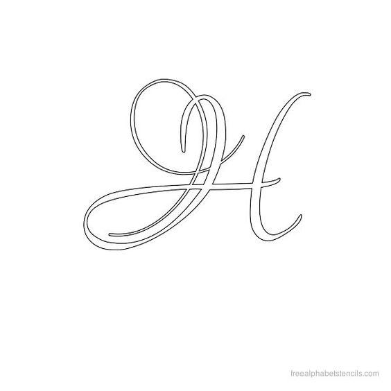Calligraphy Alphabet Stencil H Letter H Pinterest