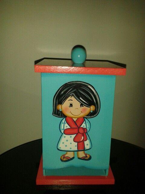 Porta toallas sanitarias mis trabajos en mdf madera - Porta toallas para bano ...