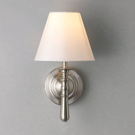 John Lewis Wall Light Fittings: Buy John Lewis Sloane Wall Light, Satin Nickel Online at johnlewis.com,Lighting
