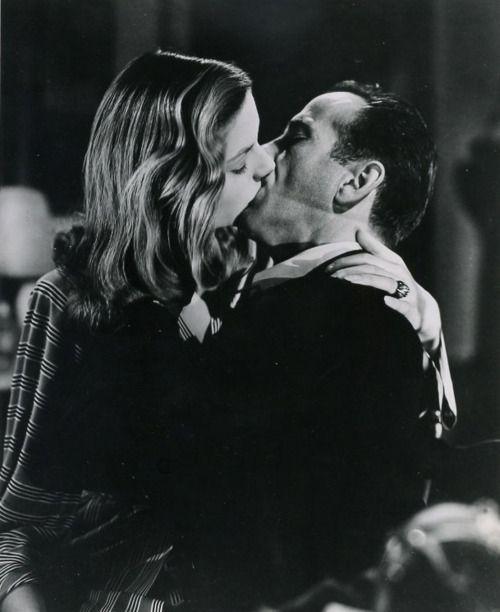 humphrey bogart lauren bacall and kiss on pinterest