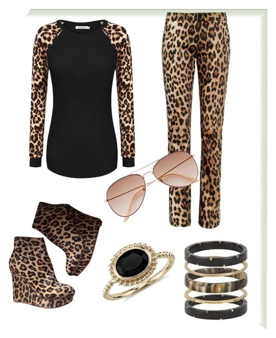 """""""cheetah dress by nimo"""" by haramnoor on Polyvore featuring Charlotte Olympia, Altuzarra, H&M, Blue Nile and Ashley Pittman"""