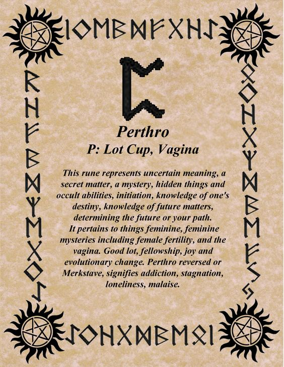 Futhark Norse Rune Perthro: