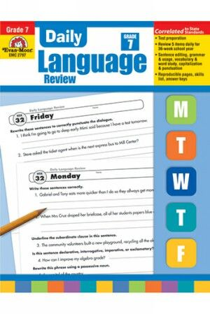 Daily Language Review Gr 7   Give your seventh-graders the focused language arts practice they need to keep their language skills sharp.   NestLearning.com