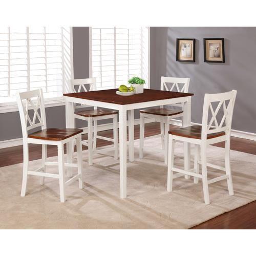 Essential Home Dahlia 5 Piece Square Table Dining Set White Sears Linon Home Decor Home Decor Minimalist Home Decor