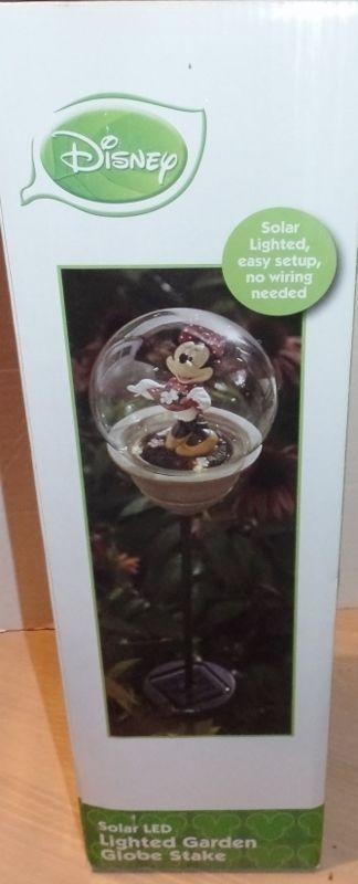 Disney Minnie Mouse Solar LED Lighted Garden Globe Stake Garden Decor NEW  #MinnieMouse #SolarGarden   Garden Chic   Pinterest   Lawn Ornaments And  Lawn