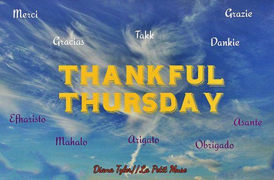 Thankful Thursday: Blogger's edition #4