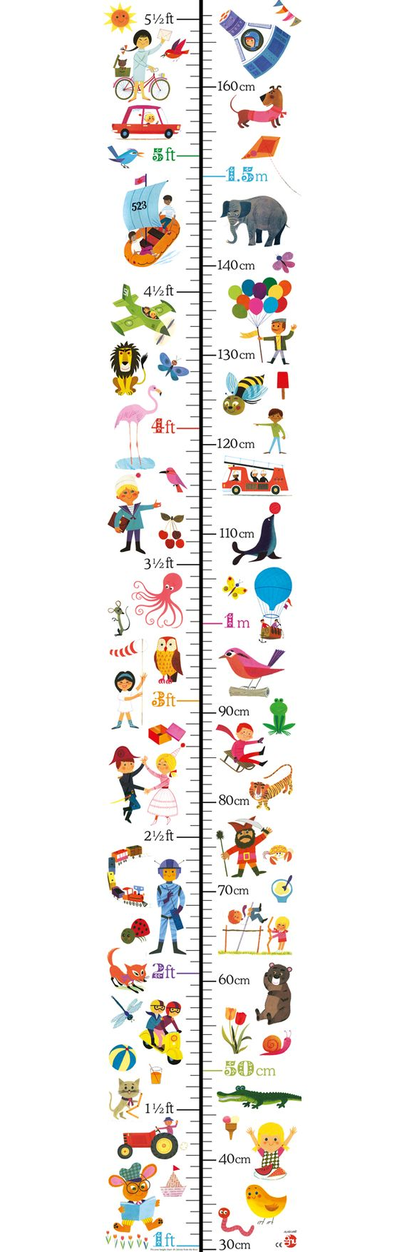 Alain Gree height chart available at Hop Toy Shop: