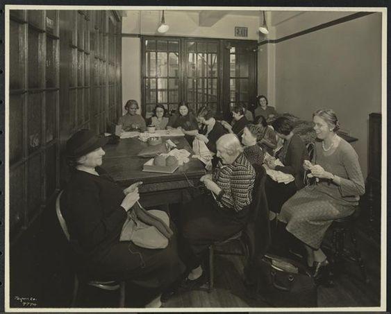 New York Association for the Blind, Interior, Women Knitting.