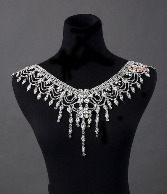 $179 Hello And Welcome!    We Sincerely Appreciate You for taking the time to look around.     Luxury Bridal Rhinestone Body Jewelry Applique. Wonderful with your dress.    What an amazing look on your special day.  Everyone will be amazed!!!!! What a lovely touch. Hand Made  We can add some