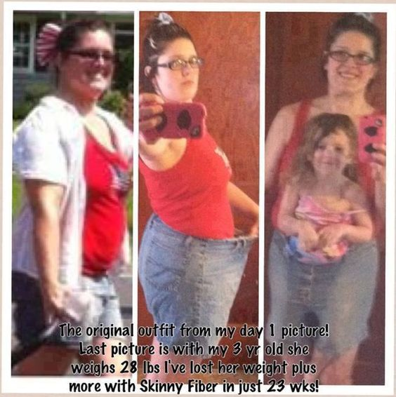 HEHEH I love this one, because of Skinny fiber her and her daughter fit in her pants :D - Changing Lives One Pound At A Time