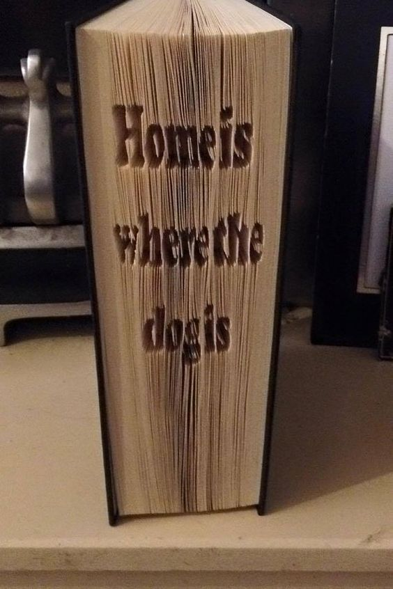 Home is where the dog is Cut & Fold Book Folding Pattern (PATTERN ONLY)