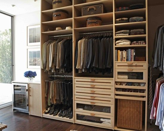 Modern Closet Design via Houzz, by Lisa Adams, LA Closet Design