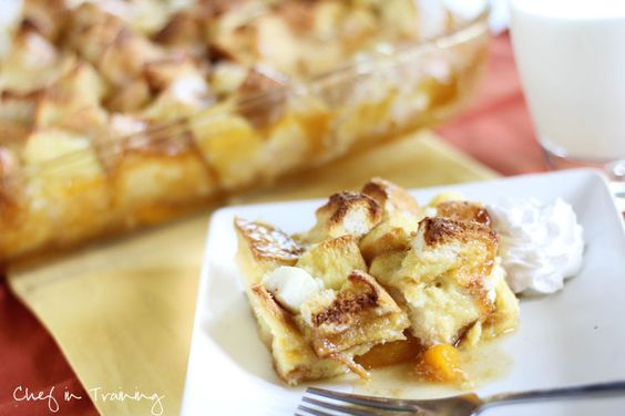 Overnight Peaches and Cream French Toast!  So easy and absolutely delicious!
