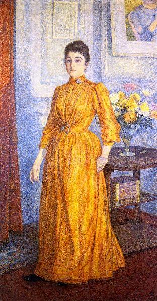 Theo van Rysselberghe - Portrait de Mme VR - 1892