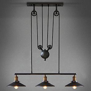 Edison Retro Loft Style Vintage Industrial Pendant Light Lamp Metal Water Pipe,Luminaire Lampara Colgantes 2016 - $192.99