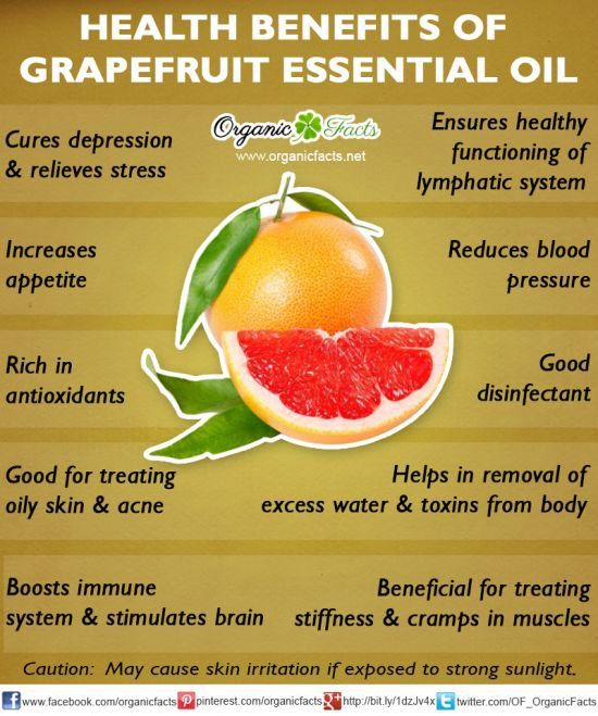 Grapefruit essential oil ~ Cures depression, Increases appetite, antioxidant, treats oily skin, Boost immune & stimulates brain, Healthy lymphatic system, reduces blood pressure, good disinfectant, removes toxins & excess water, treats stiffness & cramps.