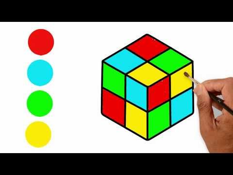 Drawing For Kids Rubik S Cube Coloring Pages For Children S How To