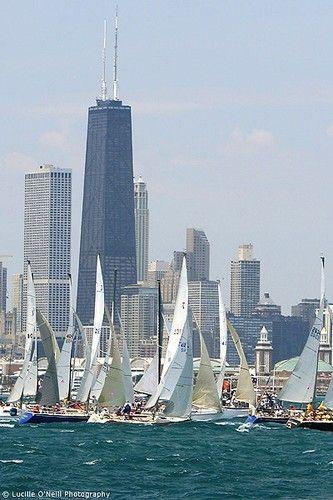 Chicago, start of the Mackinac race: