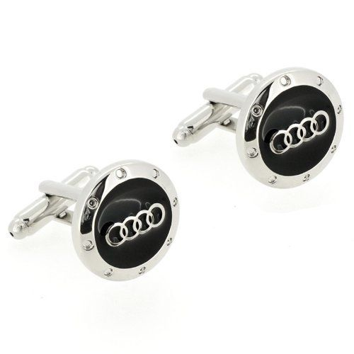 Black and Silver Audi Logo Automotive Car Cufflinks Fantasyard. $18.59. Gift box available for an additional fee. Please check out through gift-wrap option. Exquisitely detailed designer style. Other color available. Save 35% Off!