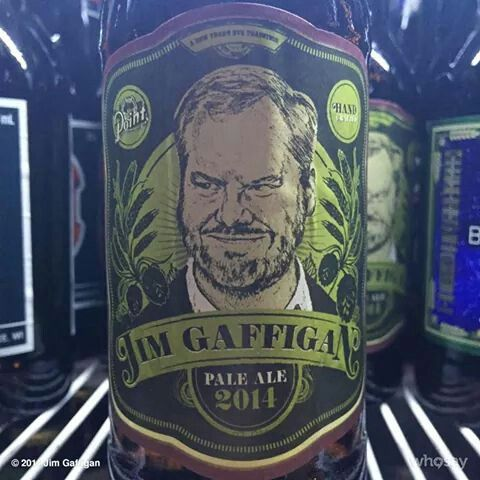 Jim Gaffigan - drink label art