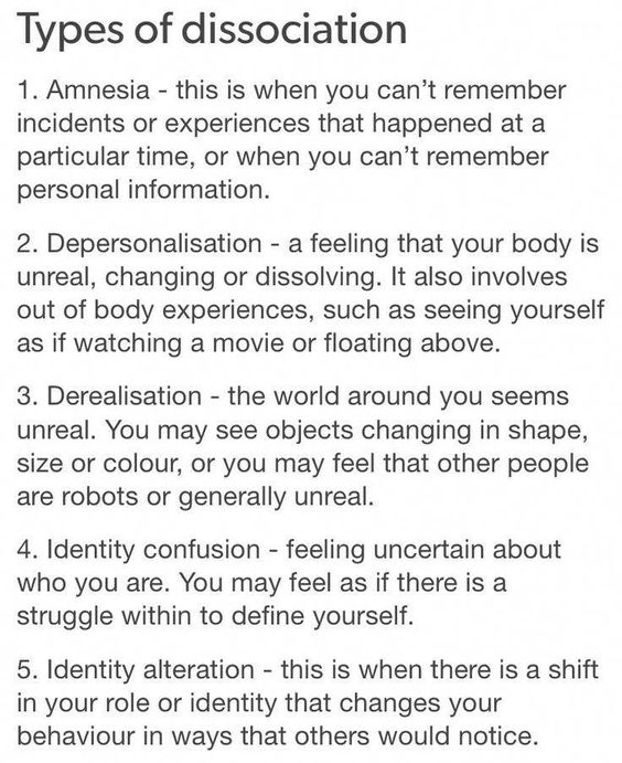 Not sure if I get amnesia or just have bad memory, but I definitely get depersonalization a lot, and occasionally derealisation #mentaldisorders