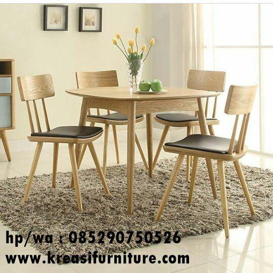 Set Kursi Meja Cafe Scandinavian Kreasi Furniture Jepara Furniture Kursi Makan Mebel