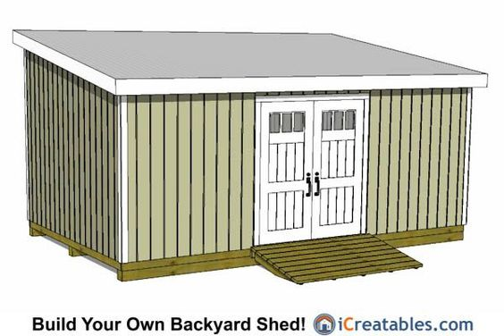 12x24 lean to shed plans 12x24 shed plans pinterest for Lean to storage shed